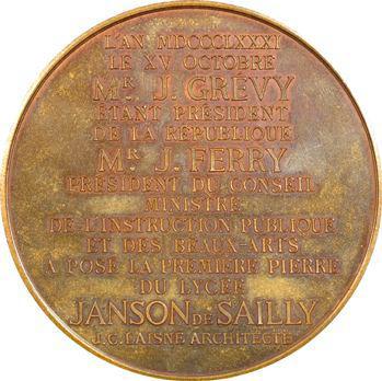 IIIe République, Pose de la première pierre du lycée Janson de Sailly, 1881 Paris