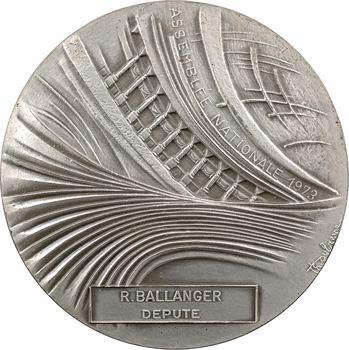 Ve République, médaille du député Ballanger, par Rips et Dufresne, 1973 Paris