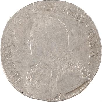 Louis XV, écu aux rameaux d'olivier, 1736 Perpignan