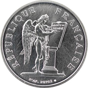 Ve République, piéfort de 100 francs Droits de l'Homme, 1989 Pessac