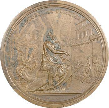 Louis XV, la peste et le Lazareth de Marseille, les 16 intendants sanitaires, par Gatteaux, 1734 Paris