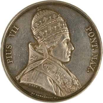 Vatican, Pie VII, détournée en médaille de mariage, 1821