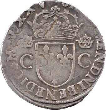 Henri III (au nom de Charles IX), teston 10e type, 1575 Nantes