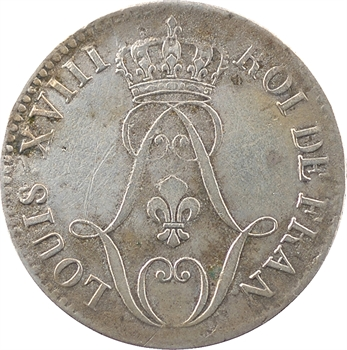 Réunion ou Île de Bourbon, Louis XVIII, 10 centimes, 1816 Paris