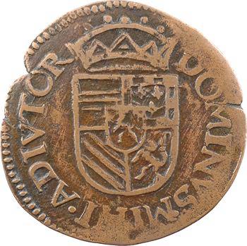 Artois (comté d'), Philippe II, liard, 1587 Arras