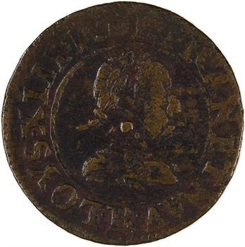 Louis XIII, double tournois 1er type, 1617 Villeneuve-lès-Avignon