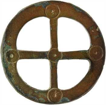 Gaule, rouelle en bronze, Antiquité tardive ou Haut Moyen-Âge ?