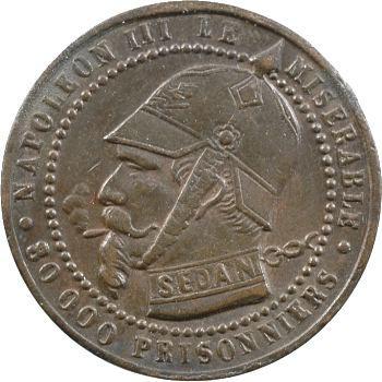 Guerre de 1870, Napoléon III, module cinq centimes SEDAN, 1870