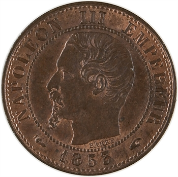 Second Empire, un centime tête nue, 1853 Paris