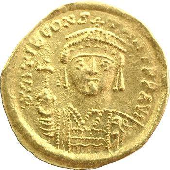 Tibère II Constantin, solidus de poids réduit, Antioche, 578-582