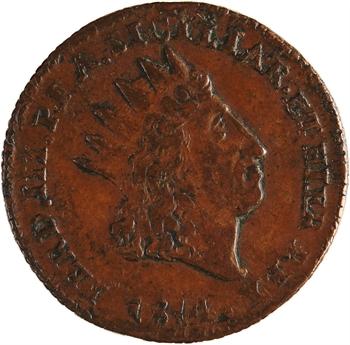 Italie, Sicile (royaume de), Ferdinand III, 2 grana, 1814 Palerme