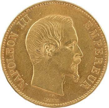 Second Empire, 100 francs tête nue, 1855 Paris