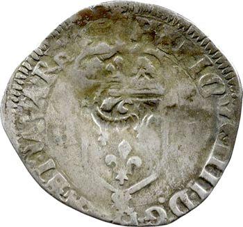Louis XIII, douzain d'Henri IV, 1596 Aix, contremarqué d'un lis