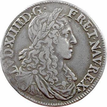 Louis XIV, demi-écu au buste juvénile, 1re effigie, 1662 Rennes