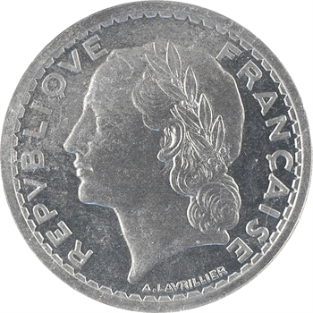 IIIe République, essai de 5 francs par Lavrillier, en aluminium, 1933 Paris