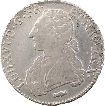 Louis XVI, écu aux branches d'olivier, 1778 Bordeaux