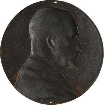 Chaplain (J. C.) : Léon Joseph Bonnat, fonte uniface, 1890