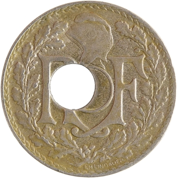 IIIe République, 10 centimes Lindauer, variété trou décentré, 1921 Paris
