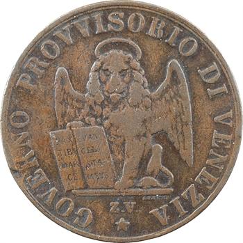 Italie, Venise (ville de), gouvernement provisoire, 5 centesimi, 1849