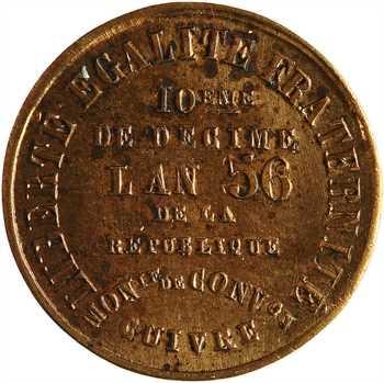 IIe République, 10ème de décime de la Banque du peuple, 1848, An 56, Paris