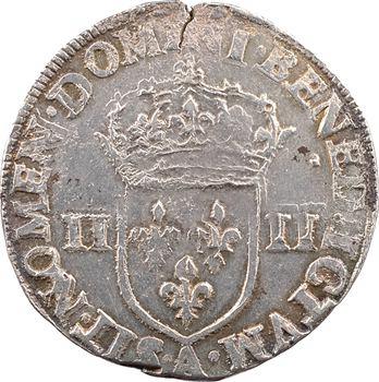 Henri IV, quart d'écu, croix fleurdelisée de face, 1603 Paris