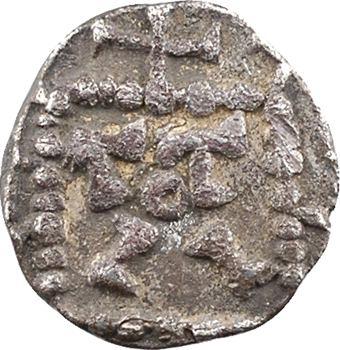 Kent, sceat ou denier à la tête radiée et légende runique, c.700-710