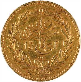 Tunisie (Protectorat français), Ali, Bey, 25 piastres ou 15 francs or, AH 1308 (1891) Paris