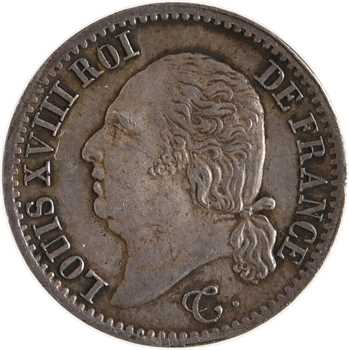 Louis XVIII, 1/4 de franc, 1824 Paris