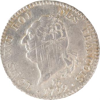 Constitution, 30 sols FRANÇOIS, An 4, 2d semestre, 1792 Paris