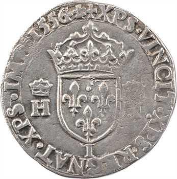 Henri II, teston à la tête nue 1er type, 1556 Limoges