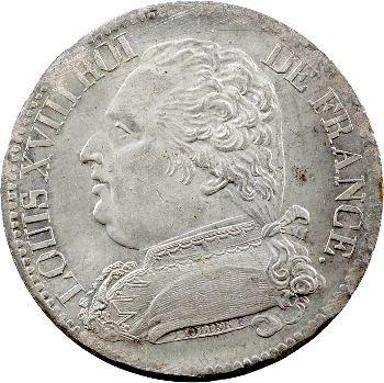 Louis XVIII, 5 francs buste habillé, 1814 Bayonne