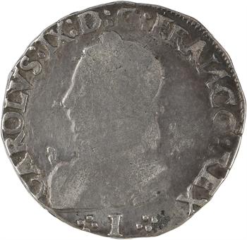 Charles IX, teston 5e type, 1573 Limoges