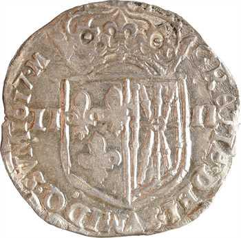 Louis XIII, quart d'écu de Navarre, 1617 Saint-Palais