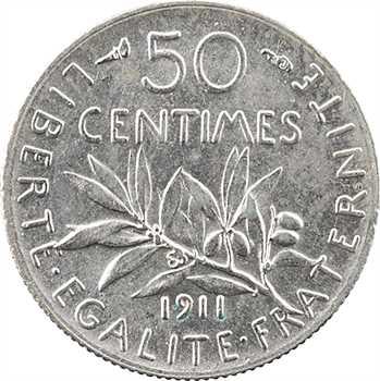 IIIe République, 50 centimes Semeuse, 1911 Paris