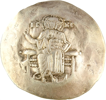 Jean II, aspre d'électrum, Constantinople, 1118-1143