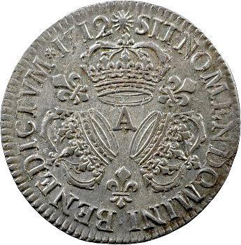 Louis XIV, demi-écu aux trois couronnes, 1712 Paris
