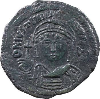 Justinien Ier, follis, Constantinople, 545-546