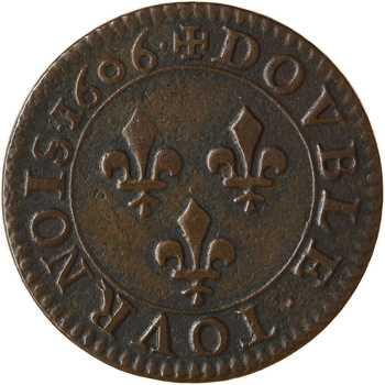 Henri IV, double tournois, légende française, 1606 Paris