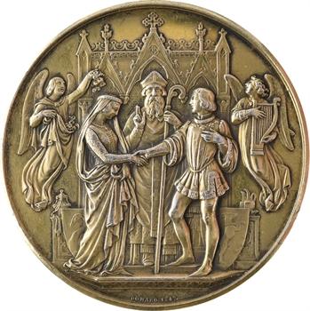 IIIe République, médaille de mariage, par Domard, 1882 Paris