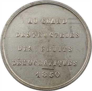IIe République, médaille satirique au hanneton (Au grand destructeur), 1850 Paris