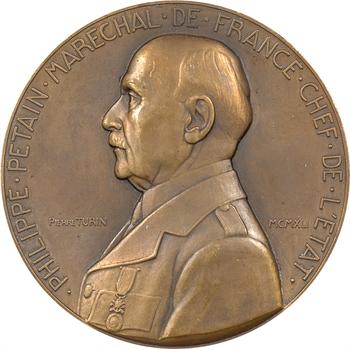IIe Guerre Mondiale, le Maréchal Pétain, par Pierre Turin, moyen module, 1941 Paris