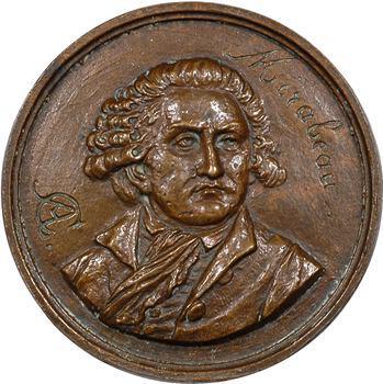 Constitution, le comte de Mirabeau, médaille uniface, 1791 Paris