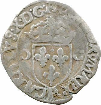 Charles X, douzain aux 2 C, 1er type, 1592 Dijon