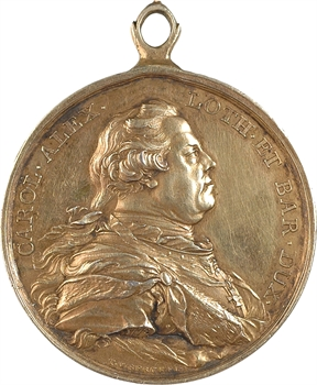 Pays-Bas Méridionaux, Charles de Lorraine, prix des Académies Royales des Beaux-Arts, par Th. van Berckel, 1778