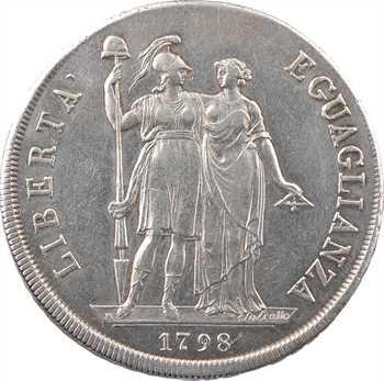 Italie, République ligure, 8 lire, 1798, An I, Gênes