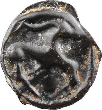 Sénons, potin au cheval à la longue oreille, c.52 av. J.-C.