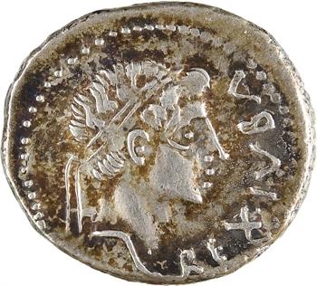 Maurétanie, Juba II et Cléopâtre, denier, Caesarea, c.16-17