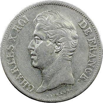 Charles X, 5 francs 2e type, 1827 Marseille