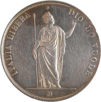 Italie, Lombardie (Gvt provisoire de), 5 lire, 1848 Milan