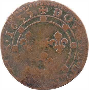 Charleville (principauté de), Charles Ier de Gonzague, double tournois 14e type, 1635 Charleville